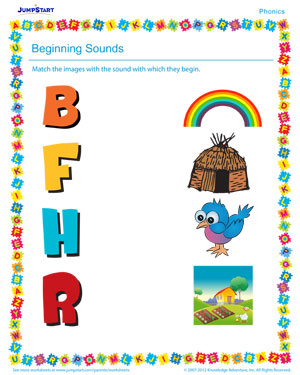 Beginning Sounds - Phonics PDF worksheet