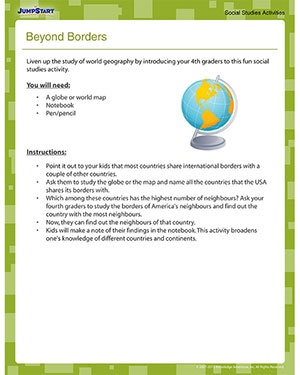 Beyond Borders - Free Geography Activity for 4th Grade