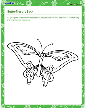 Butterflies are Back - spring worksheet