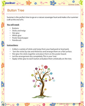 Button Tree Printable Summer Crafts For Kids JumpStart