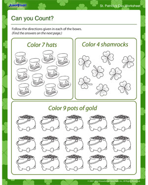 picture about St Patrick Day Puzzles Printable Free known as Can by yourself Rely? - Entertaining Worksheet St. Patricks Working day JumpStart