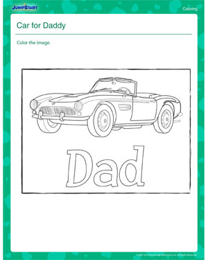 Car for Daddy – Father's Day Worksheet