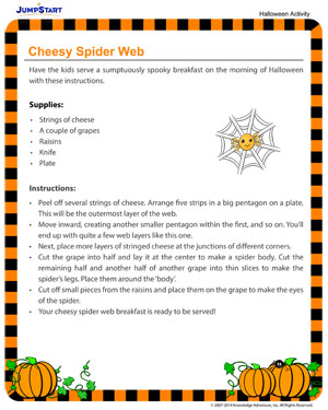 Cheesy Spider Web - Fun Halloween Activities