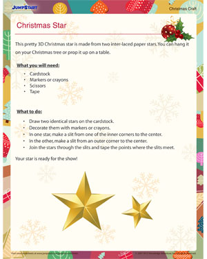 Christmas Star - Free Christmas Craft for Kids