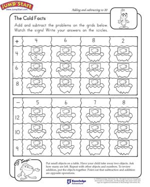 Printables Math Fact Worksheets 2nd Grade the cold facts 2nd grade math worksheets jumpstart facts
