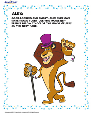 Coloring Alex - Free Coloring Worksheet for Kids
