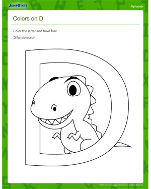 Color and Have Fun - Letter D Worksheet – Download Free PDF ...