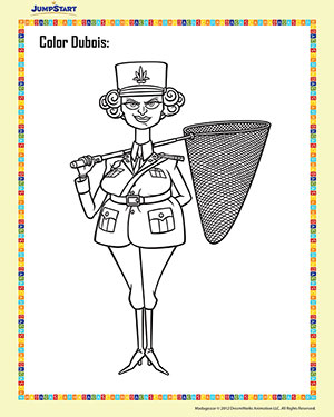 Color Dubois – Madagascar Coloring Worksheet