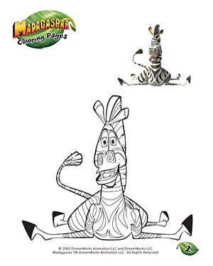 Color Marty - 2 - Fun Coloring Page for Kids