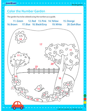 Color the Number Garden
