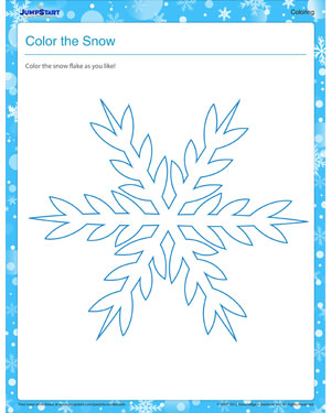 Color the Snow - Free Winter Coloring Worksheet for Kids