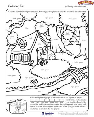 Coloring Fun - Free Coloring Worksheet for Kindergarten
