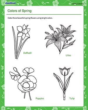 Colors of Spring – Spring Coloring Worksheet