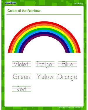 Colors of the rainbow handwriting worksheets online jumpstart colors of the rainbow kindergarten writing worksheet ibookread Read Online