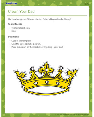 Crown Your Dad! - Father's day craft