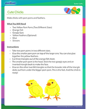 See 'Cute Chicks' - Easter Craft Online for Kids