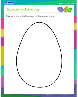 download decorate the easter egg fun printable coloring page for easter - Easter Egg Printables