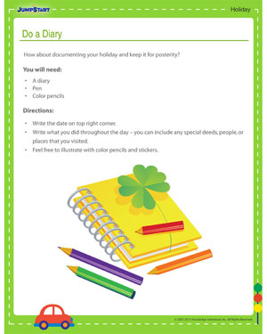 Do a Diary - Father's day craft