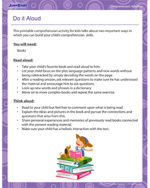 Do it Aloud - Fun Comprehension Activity for Kids