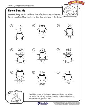 Don't Bug Me – 4th Grade Math Worksheets – JumpStart