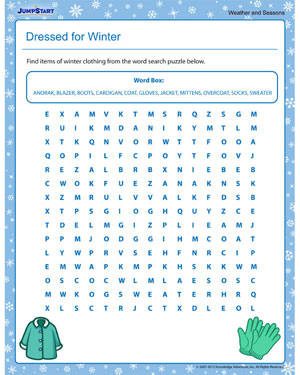 ... for Winter – Free 3rd Grade Seasons Worksheet Online – JumpStart