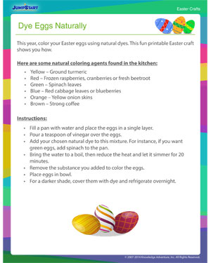 See 'Dye Eggs Naturally' - Easter Craft Online for Kids