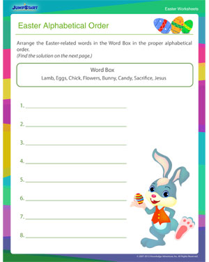 Did you see 'Easter Alphabetical Order?'- Free Easter Worksheet for Kids
