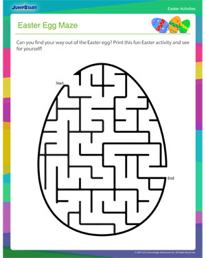 Easter Egg Maze Printable Kids Activity For Easter Jumpstart