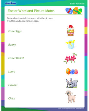 Print this Free Critical Thinking Worksheet for Easter