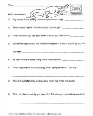 Worksheets Language Arts Grade 1 - Worksheets for Kids, Teachers ...