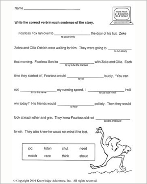 Fast and Fearless – Free 2nd Grade Vocabulary Building Worksheet ...