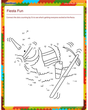 Fiesta Fun - Free Cinco de Mayo worksheet for Kids