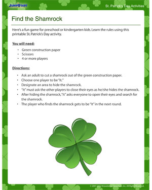 photograph about St Patrick Day Printable Activities identify Identify the Shamrock Printable Match for Saint Patricks