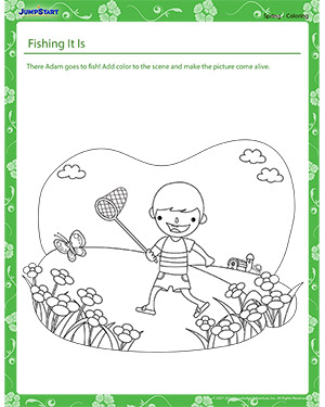 Fishing, It Is! - spring worksheet