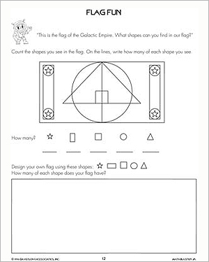 Flag Fun - Free, Printable Shapes Worksheet