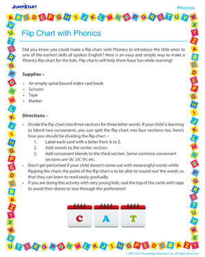 Flip Chart with Phonics - Phonics activity for kids