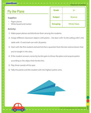 Fly the Plane - Classroom science activity for kids