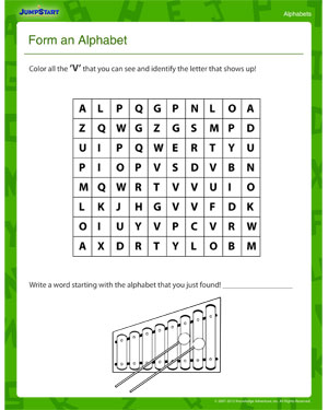 math worksheet : form an alphabet  letter worksheets  free kindergarten pre  : Kindergarten Alphabet Worksheet