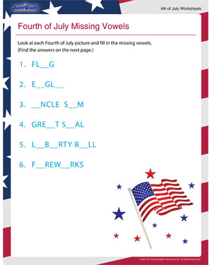 Fourth of July Math Worksheets - School Sparks