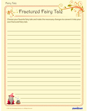 graphic relating to Printable Fairy Tales named Fractured Fairy Stories Enjoyable Fairy Story Worksheets for 3rd