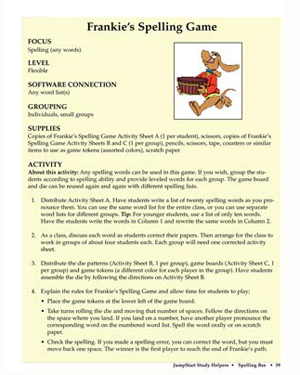 Frankie's Spelling Game - Free English Worksheet for Kids