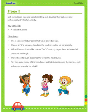 Freeze It! - Social Skills Activity