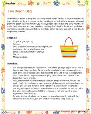 Fun Beach Bag – Summer activities