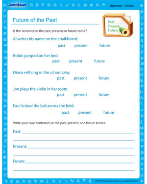Future of the Past - Grammar worksheet for kids