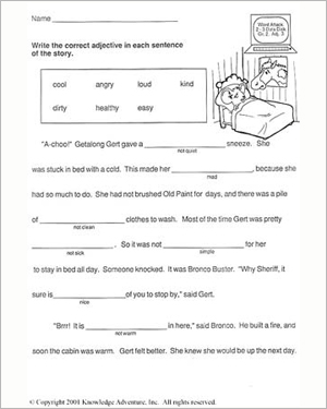 Getalong Gets Better – Vocabulary Worksheet for Second Graders ...
