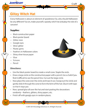 Glitzy Witch Hat - Fun Halloween Activities