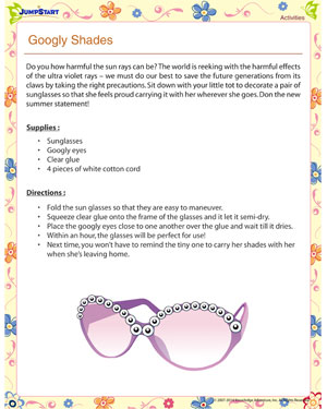 Googly Shades – Summer activities