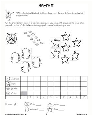 Graph It - Free Math Worksheet for Kids