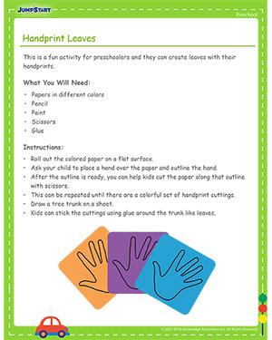 Handprint Leaves - Free Cinco de Mayo activity for Kids