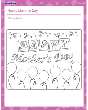 Happy Mother's Day – Mother's Day Coloring Pages for Kids